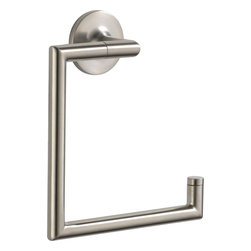 "Brizo - Brizo 694675-BN Odin Towel Ring - The Brizo 694675-BN is an Odin towel ring. This towel ring measures 6-5/8"" square, and comes with it's own mounting hardware. It comes in a beautiful, brushed nickel finish."