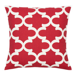 Look Here Jane, LLC - Fynn Red Pillow Cover - PILLOW COVER