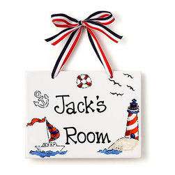 Jamie's Painting & Design - Hand Painted Name Plaque - Sailor - Hand Painted Name Plaque - Sailor