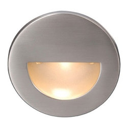 WAC Lighting - WAC Lighting   LED300 LEDme Step Light - Circular scoop LED200 LEDme® Step Light from WAC Lighting. Designed for safety and style on stairways, patios, decks, balcony areas, walkways and building perimeters. Features an architectural design and energy efficient lamping for long-lasting indoor and outdoor lighting solutions that creates an attractive, romantic impression at night. Features: