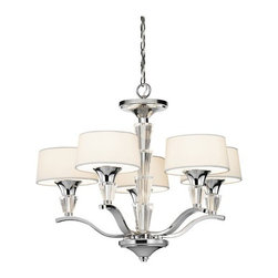 Kichler - Kichler 42029CH Crystal Persuasion Single-Tier Mini Chandelier 5 Lights - Product Features: