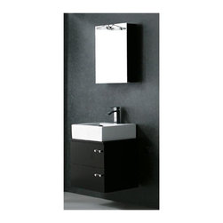 Vigo Industries - 22 in. Single Bathroom Vanity with Ceramic Sink in Wenge Finish - Enjoy your bathroom experience with this beautiful Vigo bathroom vanity. No other brand can match Vigo's style, quality and design.
