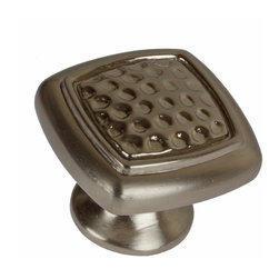 "GlideRite Hardware - GlideRite 1-3/32"" Dimpled Knob Satin Nickel - Dress up your cabinets by upgrading to this satin nickel knob by GlideRite Hardware. Each knob is individually packaged to prevent damage to the finish and a standard installation screw is included."