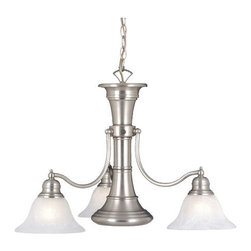 Vaxcel Lighting - Vaxcel Lighting CH30304 4 Light Chandelier from the Standford Collection - Standford Collection 4 Light ChandelierBrassy 3 light chandelier has a nautical flair. The three-way switch allows you to turn on only the center light, only the outer ring of lights, or all three.Features: