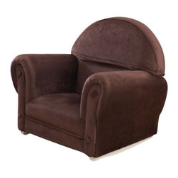 KidKraft - Upholstered Rocker, Chocolate by Kidkraft - This Chocolate Velour Rocker is just like mom and dad�s furniture only kid-sized. With padded, thick cushioning our rocker is a comfy place for kids to read stories, play let�s pretend, or just relax.