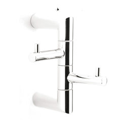"WS Bath Collections - WS Bath Collections Sintesi 1260 Double Bathroom Hook - Sintesi 1260, 0.8"" x 4.7"" x 4.7"", Bathroom Hook in Polished Chrome"