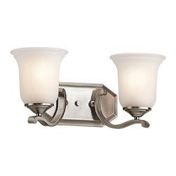 "Kichler - Kichler 45402CLP Wellington Square 16"" Wide 2-Bulb Bathroom Lighting Fixture - Product Features:"