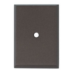 Alno Inc. - Alno Inc. 1 1/4 Inch Rectangle Backplate Chocolate Bronze - Alno Inc. 1 1/4 Inch Rectangle Backplate Chocolate Bronze  Made from Solid Brass.