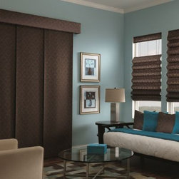 Fabric Sliding panels. Free Samples and Shipping! - Fabric Sliding panels - Buy with Confidence, Get Free Samples Today!Choose Bali Fabric Sliding Panels from Blinds.com to bring a sleek and modern look to your patio doors or larger windows.  Also known as Panel Track, this product can also be used to cover a closet or as a room divider.  With over 100 fabrics in an array