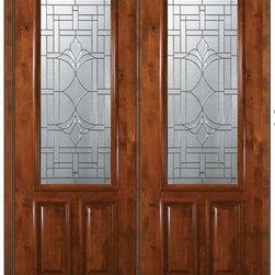 """Prehung Front Double Door 96 Wood Alder Marsala 2 Panel 2/3 Lite - SKU#E17572-G-DE823M2BrandGlassCraftDoor TypeExteriorManufacturer Collection2/3 Lite Entry DoorsDoor ModelMarsalaDoor MaterialWoodWoodgrainKnotty AlderVeneerPrice5100Door Size Options  +$percentCore TypeDoor StyleDoor Lite Style2/3 LiteDoor Panel Style2 PanelHome Style MatchingDoor ConstructionEstanciaPrehanging OptionsPrehungPrehung ConfigurationDouble DoorDoor Thickness (Inches)1.75Glass Thickness (Inches)Glass TypeTriple GlazedGlass CamingOil Rubbed Bronze , Satin NickelGlass FeaturesTempered , BeveledGlass StyleGlass TextureGlass ObscurityDoor FeaturesDoor ApprovalsWind-load Rated , SFI , TCEQ , AMD , NFRC-IG , IRC , NFRC-Safety GlassDoor FinishesDoor AccessoriesWeight (lbs)719Crating Size25"""" (w)x 108"""" (l)x 52"""" (h)Lead TimeSlab Doors: 7 Business DaysPrehung:14 Business DaysPrefinished, PreHung:21 Business DaysWarrantyOne (1) year limited warranty for all unfinished wood doorsOne (1) year limited warranty for all factory?finished wood doors"""