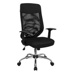 Flash Furniture - Flash Furniture High Back Mesh Office Chair with Mesh Fabric Seat - This value priced mesh office task chair will accommodate your essential needs for your home or office. Chair features a breathable mesh back with a comfortably padded mesh fabric seat. Chair is height adjustable to conform to several desk sizes.