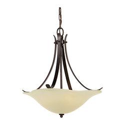 Morningside Collection 3- Light Uplight Chandelier - Item Weight: 13.81