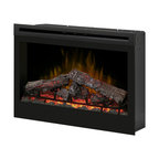 """Dimplex - Dimplex 33-Inch Plug-in Electrical Fireplace - DF3033ST - The large Dimplex 33"""" Plug-In Electric Fireplace is an attractive supplemental heating solution for up to 350 square feet. Easy to operate, a digital remote control allows you to set the flame speed, heat, and lighting as you wish."""