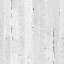 Scrapwood Wallpaper 11 - Piet Hein Eek is a famous Dutch designer of furniture, interior objects and wallpaper. His wallpaper range brings you faux impressions of natural, raw materials like wooden planks, concrete, brick walls and more. The new collection includes white wooden planks for an airy, Scandinavian feel at home.