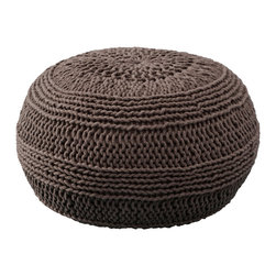 """Rizzy Home - Contemporary Mocha Pouf (14""""x20"""") - Add a contemporary statement to any space with this versatile pouf. It can be used as a extra seat, a footrest or a fun accent piece."""