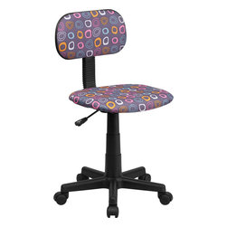 Flash Furniture - Flash Furniture Multi-Colored Pattern Printed Computer Chair - BT-FL-GG - This attractive design printed office chair will liven up your classroom, dorm room, home office or child's bedroom. If you're ready to step out of the ordinary then this computer chair is for you! [BT-FL-GG]