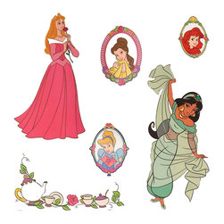 Berlin Wallpaper - Disney Princess Stickers Royal Portraits Wall Decals - FEATURES: