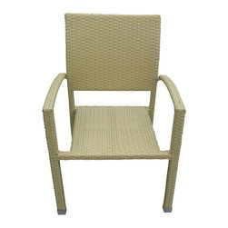 East End Imports - Outdoor Wicker Rattan Dining Chair - Relax in confidence, as you effortlessly unite diverse forces to take center stage. Wealth and success surround you and draw attention to greater heights. This outdoor wicker dining chair has a sturdy aluminum frame covered with an espresso rattan weave.
