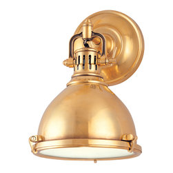 Hudson Valley Lighting - Hudson Valley Lighting 2209-AGB Pelham Aged Brass Wall Sconce - Hudson Valley 2209-AGB Pelham Aged Brass Wall Sconce
