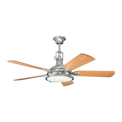 Joshua Marshal - Brushed Stainless Steel Ceiling Fan - Brushed Stainless Steel Ceiling Fan