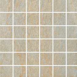 Quartzite Collection Sunset 2x2 Mosaic - The most appealing quartzite is now engineered by StonePeak with an innovative technology which enables us to deliver unprecedented natural looks and texture.