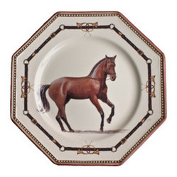 Chantilly Equestrian Horse Dinnerware