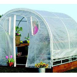 "Jewett-Cameron Companies - Weatherguard Round Top Greenhouse, 8'L x 6'W x 6'6""H - Spring Gardener Greenhouse"