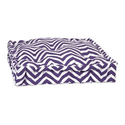 IMAX CORPORATION - Purple Chevron Floor Cushion - This functional floor cushion features a fun purple chevron print fabric with tufted details. Find home furnishings, decor, and accessories from Posh Urban Furnishings. Beautiful, stylish furniture and decor that will brighten your home instantly. Shop modern, traditional, vintage, and world designs.