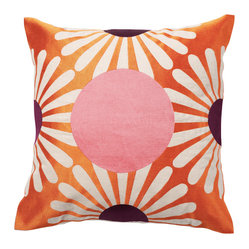 Fan Dot Pillow, Sunshine