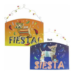 WL - 7.25 Inch Chihuahua Fiesta or Siesta Plaque with Wire Hanger - This gorgeous 7.25 Inch Chihuahua Fiesta or Siesta Plaque with Wire Hanger has the finest details and highest quality you will find anywhere! 7.25 Inch Chihuahua Fiesta or Siesta Plaque with Wire Hanger is truly remarkable.