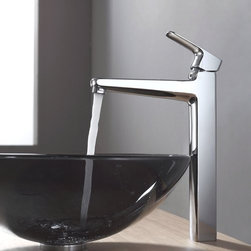 """Kraus - Kraus KEF-15500-PU10CH Chrome Exquisite Virtus Single Hole Vessel - Product Features:Fully covered under Kraus  limited lifetime warrantyAll-brass faucet constructionHigh-quality, corrosion and rust resistant triple-plated finish - finish covered under lifetime warrantySingle handle operationTall design for use with vessel (above-the-counter) sinksADA compliantLow lead compliant - complies with federal and state regulations for lead contentDesigned to easily connect to standard US plumbing supply bibsExtra secure mounting assemblyAll necessary mounting hardware includedProduct Technologies and Benefits:Precision Kerox Cartridges: The cartridge's job is to deliver smooth handle operation and water flow, throughout hundreds of thousands of uses, without ever leaking – all while under a punishing 60 pounds-per-square-inch of pressure. For these reasons, it is quite literally what """"makes or breaks"""" the faucet. Kraus understands this, so they take no shortcuts here, importing their cartridges from the world's leading manufacturer of high-end precision ceramic disc cartridges, Kerox in Hungary.Swiss-Made NeoPerl Aerators: Aerators are possibly the most under-appreciated component within faucets. Not only do they soften the stream (preventing splashing), but they also control the straightness, diameter, overall delivery of water. Fortunately, like their cartridges, Kraus recognizes this and chooses to takes no gambles here – they import their aerators from NeoPerl in Switzerland, the world's leading manufacturer for high-end and specialty aerators.Heavily Certified: Kraus has gone to great lengths to be able to provide you, the homeowner, the rest-easy satisfaction knowing that your faucet is certified and listed by all the major product testing boards in the US and Canada. This means that this faucet is deemed safe to use and"""