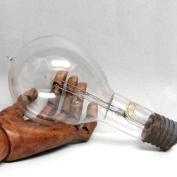 Giant Antique 1920s Mazda Westinghouse Lightbulb by Austin Modern - Add a bright note to your home with this Giant Antique 1920s Mazda Westinghouse Lightbulb. It'll look like you're in the middle of working on your giant robot.