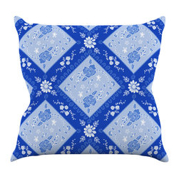 "Kess InHouse - Anneline Sophia ""Diamonds Blue"" Aqua White Throw Pillow (20"" x 20"") - Rest among the art you love. Transform your hang out room into a hip gallery, that's also comfortable. With this pillow you can create an environment that reflects your unique style. It's amazing what a throw pillow can do to complete a room. (Kess InHouse is not responsible for pillow fighting that may occur as the result of creative stimulation)."