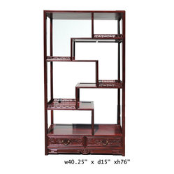 Oriental Rosewood Display Curio Cabinet Divider - This is a ...
