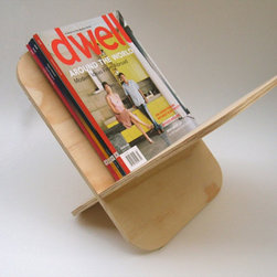 Objectify Magazine Rack By Objectify - Made from sustainably-produced New Zealand radiata pine plywood, this elegant, simple magazine rack is also quick to assemble as it just slots together. This would also be great for storing rolls of towels in the bathroom.