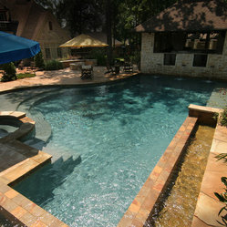 Pools Beautiful Backyard Oasis With Outdoor Kitchen And