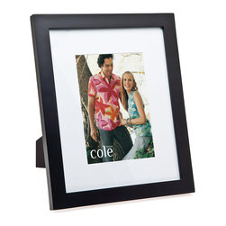 """Philip Whitney - Black Wood Frame With Matting, 8""""x10"""" - Achieve a simple, clean look in your home using this Black Wood Frame. Featuring plain black wood and white matting, this versatile frame can accommodate two different photo sizes. Use an 8-by-10 inch photo with the matting and an 11-by-13 inch photo without it. Sleek and unadorned, this frame works well with both bold and neutral color schemes."""