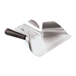 Paderno World Cuisine - stainless steel fried food shovel, 9in. - The Paderno World Cuisine handy fried food shovel will gather and scoop food out of a hot griddle for easy funneling into a to-go box or onto a plate. It is made of 18/10 stainless steel with a composite handle.