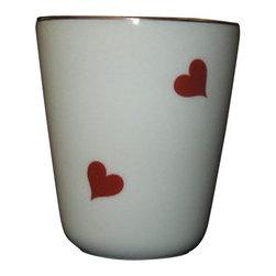 Limoges - Limoges Red Heart Tumbler - Limoges Red Heart Tumbler
