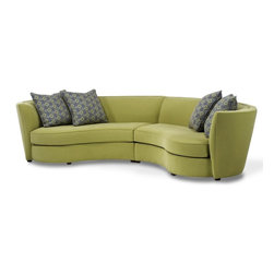 Groove Sectional - Get into the Groove with our fabulous new sectional that makes square rooms hip and comfortable. Each piece comes with two down and feather-filled toss pillows to soften and style your seat. Our sectional connectors keep you all connected and with tie downs on the luxury seat cushions, nothing moves unless you want it to. Simple, graceful lines will soften any space.