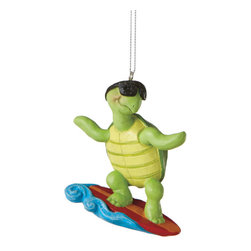 Midwest CBK - Surfer Turtle Christmas Tree Ornament - Sports Summer Surfing Ocean Holiday Gift - Surfer Turtle Christmas Ornament