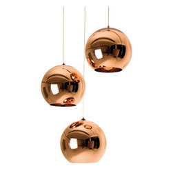 Tom Dixon - Tom Dixon Mini Pendant Light, Copper - The Copper collection brings a sculptural sophistication to any interior. Its rich and reflective qualities take on the characteristics of its surroundings.