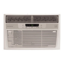 Frigidaire A/C - 8000 BTU w/ Electronic Controls and Remote, Clean Air - Frigidaire's FRA086AT7 8,000 BTU 115V Window-Mounted Compact Air Conditioner is perfect for rooms up to 350 square feet. It quickly cools the room on hot days and quiet operation keeps you cool without keeping you awake. Low power start-up and operation conserves energy and saves you money. Ready-Select electronic controls allow you to set the comfort level to your preference, while a convenient temperature-readout displays the set temperature. Effortless temperature sensing remote control allows you to see, set and maintain room temperature from across the room. The multi-speed fan features three different fan speeds for more cooling flexibility and the 8-way comfort control design allows you to easily control the direction of the cool air, wherever the unit is mounted. Plus, the clean air ionizer removes pollen and impurities from the air which is a highly desired feature for allergy sufferers.8,000 BTU compact air conditioner for window-mounted installation|Uses standard 115V electrical outlet|Quickly cools a room up to 350 sq. ft.|Dehumidification up to 1.7 pints per hour|Clean air ionizer removes pollen and impurities from the air providing relief for allergy sufferers|Ready-select electronic controls allow you to easily select options with the touch of a button|Effortless temperature sensing remote control allows you to see, set and maintain room temperature from across the room|Low power start-up and operation conserves energy and saves you money|Quiet operation keeps you cool without keeping you awake|Effortless restart resumes operating at its previous settings when power is restored to your unit|  frigidaire| fra086at7| fra086| cooling| window| mounted| window-mounted| air| conditioner| ac| a/c| compact| 8|000| 8000| btu| 115| 115v| 115-volt| 11  Package Contents: air conditioner|remote control|2 AAA batteries|installation kit|manual|warranty  This item cannot be shipped to APO/FPO addresses