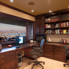 Traditional Home Office by GDC Construction