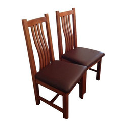 SOLD OUT!  4 Cherry Mission Style Side Chairs by Greg Aanes - $3,200 Est. Retail -