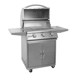 "Blaze - 3 Burner Blaze Grill ( 25"") on Cart, Natural Gas - Blaze introduces an affordable commercial style grill that was designed with your outdoor BBQ challenges in mind."