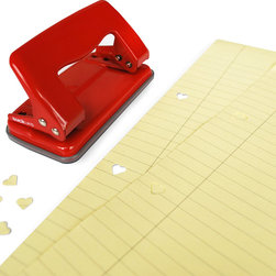 Heart Hole Punch - Don't forget the office. You'll never lose this red hole punch, which makes heart-shaped holes. Send one to your boss.