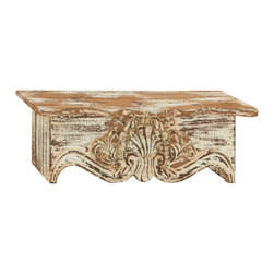 Traditional and Classy Wood Wall Shelf - Description:
