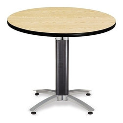 OFM - OFM 36 Round Mesh Base Multi-Purpose Table - This 36 round table looks elegant in both lunch and meeting rooms and looks great with the model 310 stack chairs. The banding makes the edges smooth and gives it a finished appearance. The honeycomb core makes the table both lightweight and sturdy.