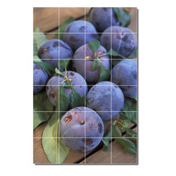 Picture-Tiles, LLC - Fruits Vegetables Photo Backsplash Tile Mural 12 - * MURAL SIZE: 25.5x17 inch tile mural using (24) 4.25x4.25 ceramic tiles-satin finish.
